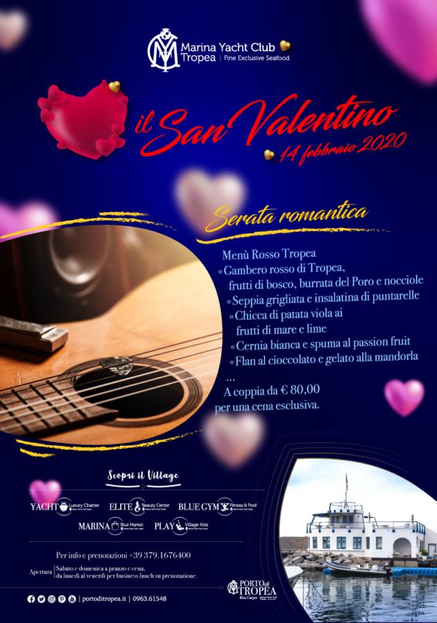 MYC Fine Exclusive Sea Food Restaurant Locandina San Valentino 2020